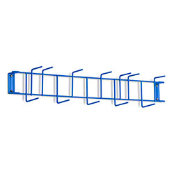"Rack'Em™ PVC Coated Hook Rack - 26"", 12 Hook, Blue"