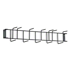 "Rack'Em™ PVC Coated Hook Rack - 26"", 12 Hook, Black"