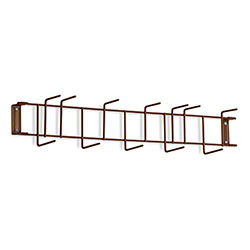 "Rack'Em™ PVC Coated Hook Rack - 26"", 12 Hook, Brown"