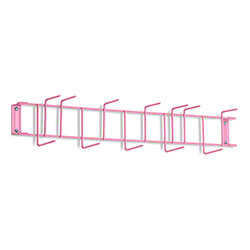 "Rack'Em™ PVC Coated Hook Rack - 26"", 12 Hook, Pink"