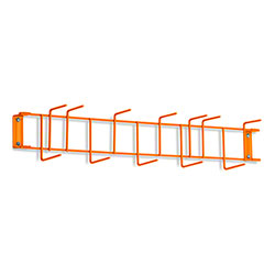 "Rack'Em™ PVC Coated Hook Rack - 26"", 12 Hook, Orange"