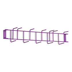"Rack'Em™ PVC Coated Hook Rack - 26"", 12 Hook, Purple"