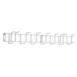 "Rack'Em™ PVC Coated Hook Rack - 36"", 16 Hook, White"