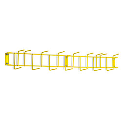 "Rack'Em™ PVC Coated Hook Rack - 36"", 16 Hook, Yellow"