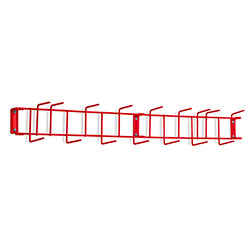 "Rack'Em™ PVC Coated Hook Rack - 36"", 16 Hook, Red"