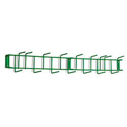 "Rack'Em™ PVC Coated Hook Rack - 36"", 16 Hook, Green"