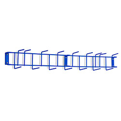"Rack'Em™ PVC Coated Hook Rack - 36"", 16 Hook, Blue"