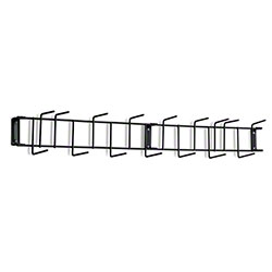 "Rack'Em™ PVC Coated Hook Rack - 36"", 16 Hook, Black"
