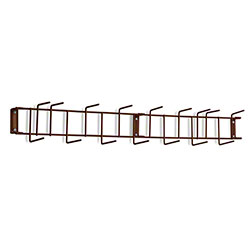 "Rack'Em™ PVC Coated Hook Rack - 36"", 16 Hook, Brown"