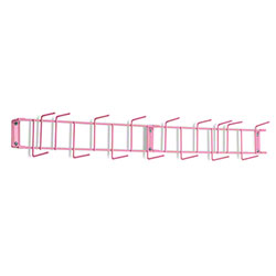 "Rack'Em™ PVC Coated Hook Rack - 36"", 16 Hook, Pink"