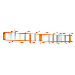 "Rack'Em™ PVC Coated Hook Rack - 36"", 16 Hook, Orange"