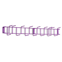 "Rack'Em™ PVC Coated Hook Rack - 36"", 16 Hook, Purple"