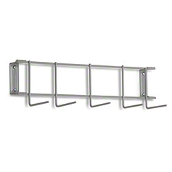 "Rack'Em™ PVC Coated Hook Rack - 17"", 5 Hook, Gray"