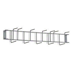 "Rack'Em™ PVC Coated Hook Rack - 26"", 12 Hook, Gray"