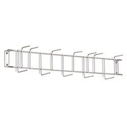 "Rack'Em™ PVC Coated Hook Rack - 26"", 12 Hook, Stainless"