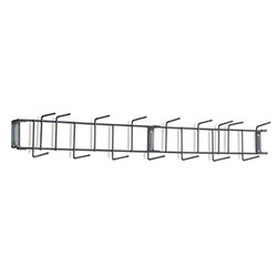 "Rack'Em™ PVC Coated Hook Rack - 36"", 16 Hook, Gray"