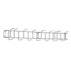 "Rack'Em™ PVC Coated Hook Rack - 36"", 16 Hook, Stainless"