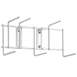 "Rack'Em™ Utility Sanitation Rack - 10"", 6 Hook, White"