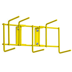 "Rack'Em™ Utility Sanitation Rack - 10"", 6 Hook, Yellow"