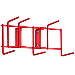 "Rack'Em™ Utility Sanitation Rack - 10"", 6 Hook, Red"