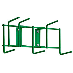 "Rack'Em™ Utility Sanitation Rack - 10"", 6 Hook, Green"