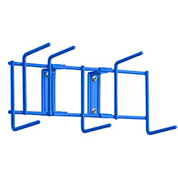 "Rack'Em™ Utility Sanitation Rack - 10"", 6 Hook, Blue"