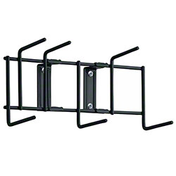 "Rack'Em™ Utility Sanitation Rack - 10"", 6 Hook, Black"