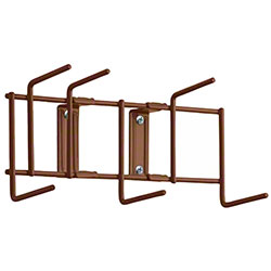 "Rack'Em™ Utility Sanitation Rack - 10"", 6 Hook, Brown"