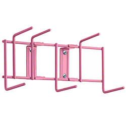 "Rack'Em™ Utility Sanitation Rack - 10"", 6 Hook, Pink"
