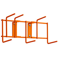 "Rack'Em™ Utility Sanitation Rack - 10"", 6 Hook, Orange"