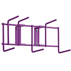 "Rack'Em™ Utility Sanitation Rack - 10"", 6 Hook, Purple"