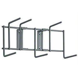 "Rack'Em™ Utility Sanitation Rack - 10"", 6 Hook, Gray"