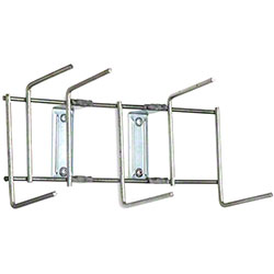 "Rack'Em™ Utility Sanitation Rack - 10"", 6 Hook, Stainless"
