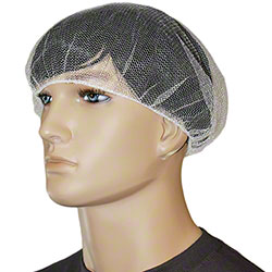 "Malt by Impact® Nylon Mesh Hairnet - 24"", White"
