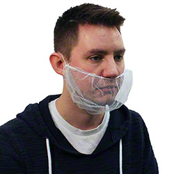 Malt by Impact® Nylon Mesh Beard Cover - White