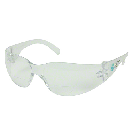 Hero Safety Glasses - Clear Lens, 2.5 Diopter
