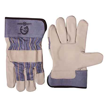 IS-1122 Thoroughbred Full Gun Premium Grain Leather Glove - Large