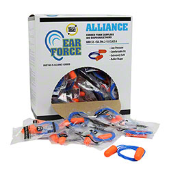 Alliance Corded Disposable Foam Earplugs - 100 Pair