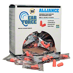 Alliance Cordless Disposable Foam Earplugs - 200 Pair
