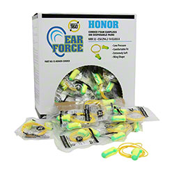 Honor Corded Disposable Foam Earplugs - 100 Pair