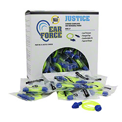 Justice Corded Reusable Earplugs - 100 Pair