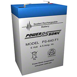 Power Sonic® Sealed Rechargeable Battery - 6 Volt 4.5 AH