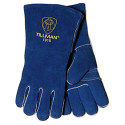 "Tillman™ 14"" Blue Shoulder Spilt Cowhide Glove"