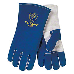 "Tillman™ 14"" Blue Side Split Cowhide Glove"