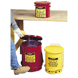 Justrite® Red Oily Waste Cans