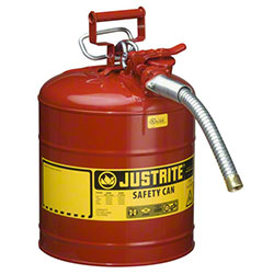 Justrite® Type II AccuFlow™ Steel Safety Can w/Hose