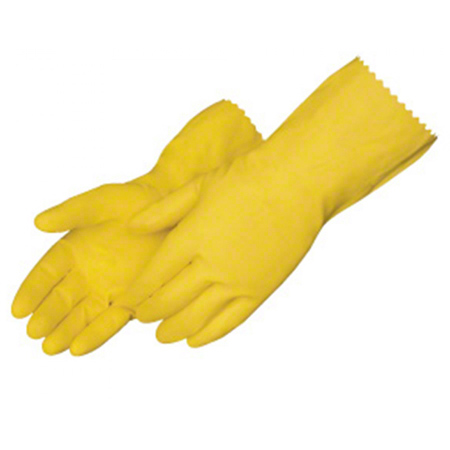 Liberty Yellow Latex Household Flock Lined Glove - Large