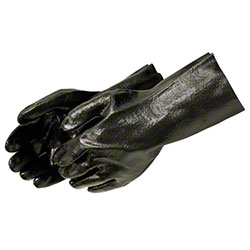 "Liberty Semi-Rough Black PVC Glove - 12"" Gauntlet"
