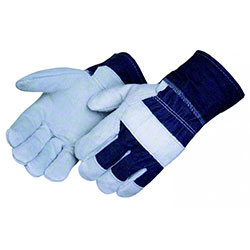 Liberty Regular Shoulder Leather Denim Cuff Glove - Men's