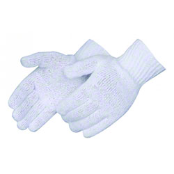 Liberty Medium Wt. Bleached White Cotton/Poly Glove - Large